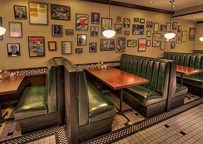 Restaurant Booths at Myron's Delicatessen & Cafe