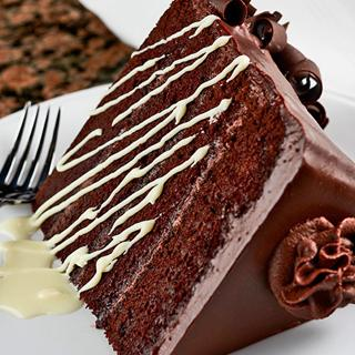 Chocolate cake at Farraddays Steakhouse