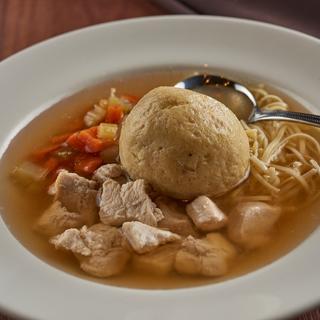 Myron's Collage Square soup