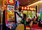 Person Playing a Game at Eldorado Scioto Downs in Columbus, Ohio