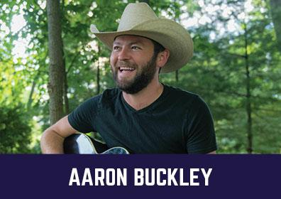Advertisement for Aaron Buckley at The Brew Brothers at Scioto Downs