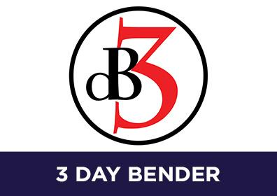 Advertisement for 3 Day Bender at The Brew Brothers at Eldorado Scioto Downs