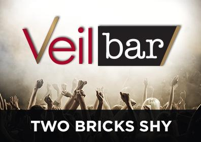 Advertisement for Two Bricks Shy at The Veil Bar at Scioto Downs