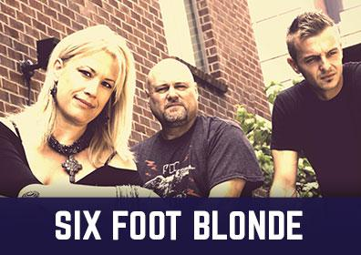 Advertisement for Six Foot Blonde at The Brew Brothers at Scioto Downs