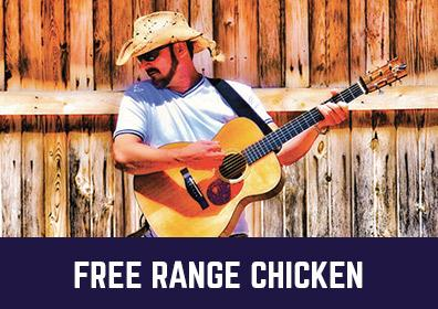 Advertisement for Free Range Chicken at The Brew Brothers at Scioto Downs