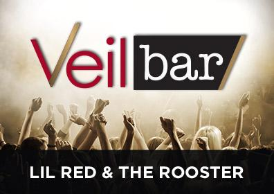 Advertisement for Lil Red & The Rooster at the Veil Bar at Scioto Downs