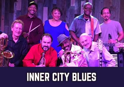 Advertisement for Inner City Blues at The Brew Brothers at The Brew Brothers at Scioto Downs