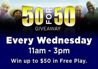 50 for 50 Giveaway Every Wednesday