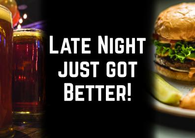 Advertisement for Late Night Menu at The Brew Brothers at Scioto Downs