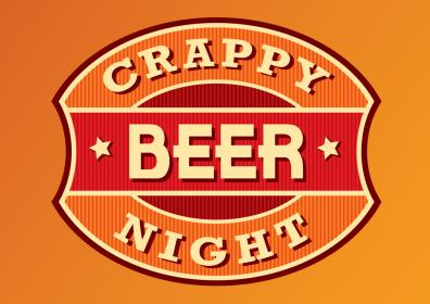 Advertisement for Crappy Beer Night at The Brew Brothers
