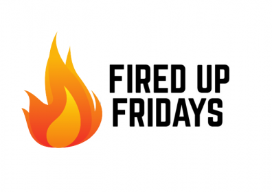 Graphic design photo featuring flame and logo
