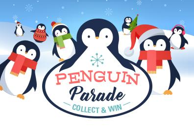 Advertisement for Penguin Parade at Eldorado Scioto Downs