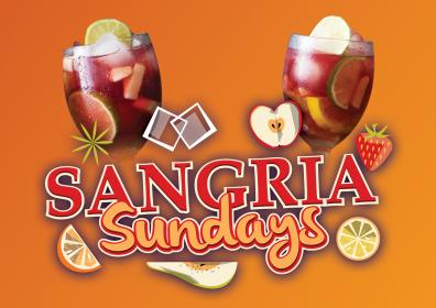 Advertisement for Sangria Sundays at The Brew Brothers