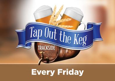 Advertisement for Tap Out the Keg at Eldorado Scioto Downs