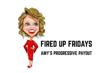 Graphic design photo featuring Amy with logo