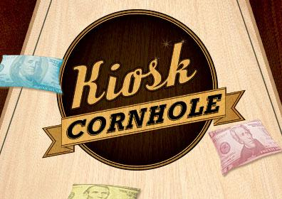 Advertisement for Cornhole Kiosk at Eldorado Scioto Downs