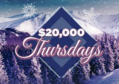 Advertisement for $20,000 Thursdays at Eldorado Scioto Downs