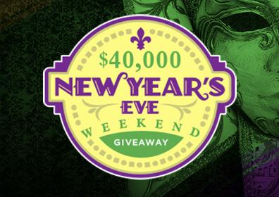 Advertisement for $40,000 New Year's Eve Giveaway at Eldorado Gaming Scioto Downs