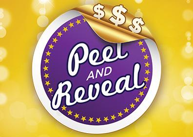 Advertisement for Peel and Reveal at Eldorado Gaming Scioto Downs