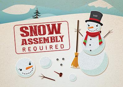 Advertisement for Snow Assembly Required at Eldorado Scioto Downs