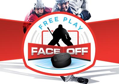 Advertisement for Free Play Face Off at Eldorado Gaming Scioto Downs
