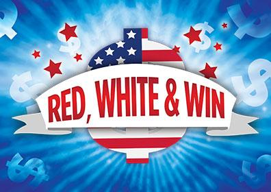 Advertisement for Red, White & Win at Eldorado Scioto Downs