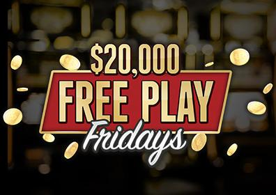 $20,000 Free Play Fridays at Eldorado Gaming Scioto Downs