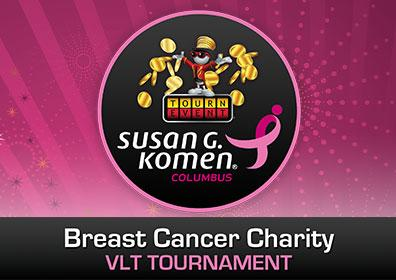 Advertisement for Breast Cancer Charity VLT Tournament at Eldorado Scioto Downs