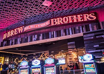 Advertisement for The Brew Brothers at Eldorado Scioto Downs in Columbus, Ohio
