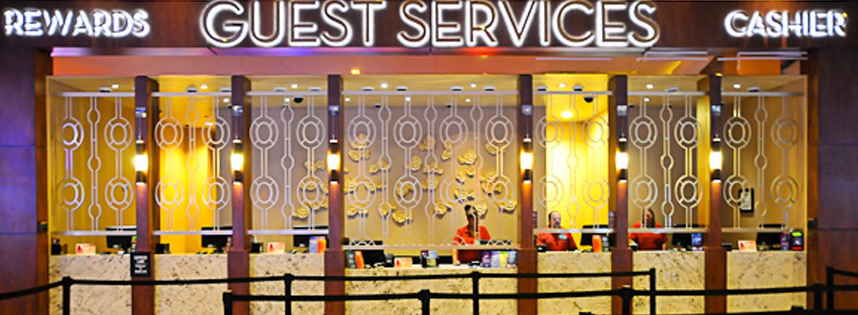 Photo of the Eldorado Scioto Downs Guest Services Desk