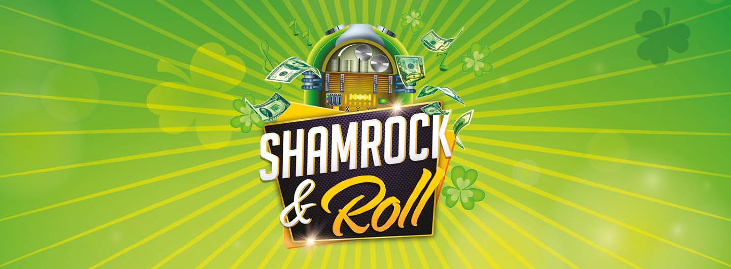 """Graphic Design photo featuring a jukebox with dollar bills reading """"Shamrock & Roll"""""""