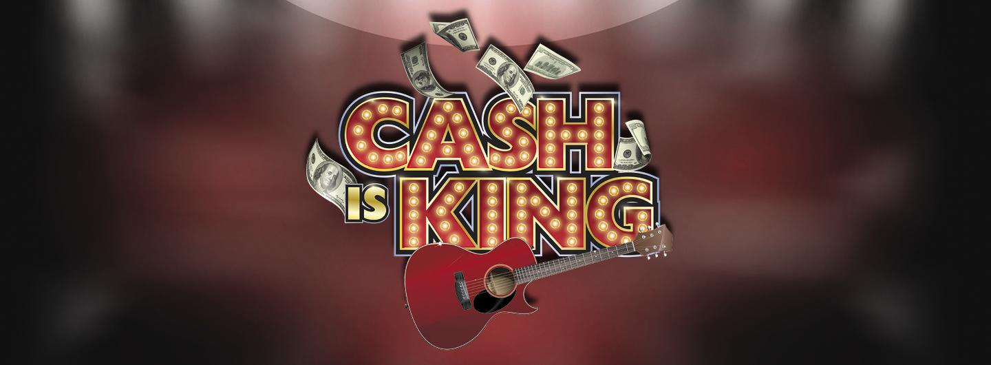 """Graphic Design photo featuring a guitar reading """"Cash is King"""""""