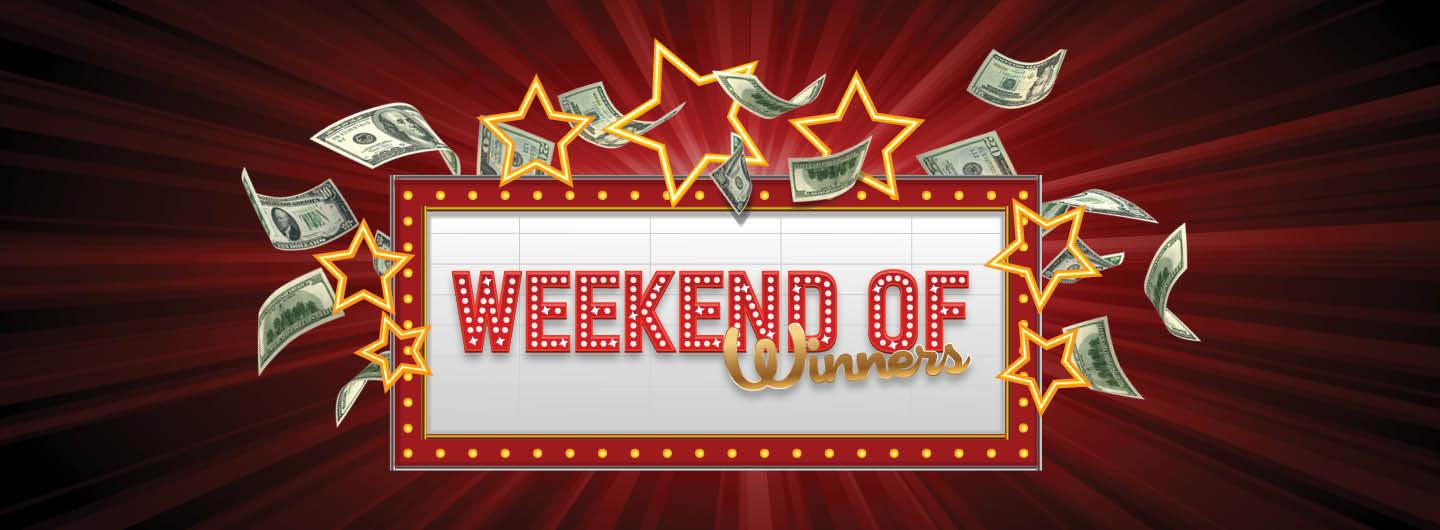 Graphic design photo featuring gradient red background with floating cash & stars