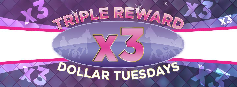 Advertisement for Triple Reward Dollar Tuesdays at Eldorado Scioto Downs