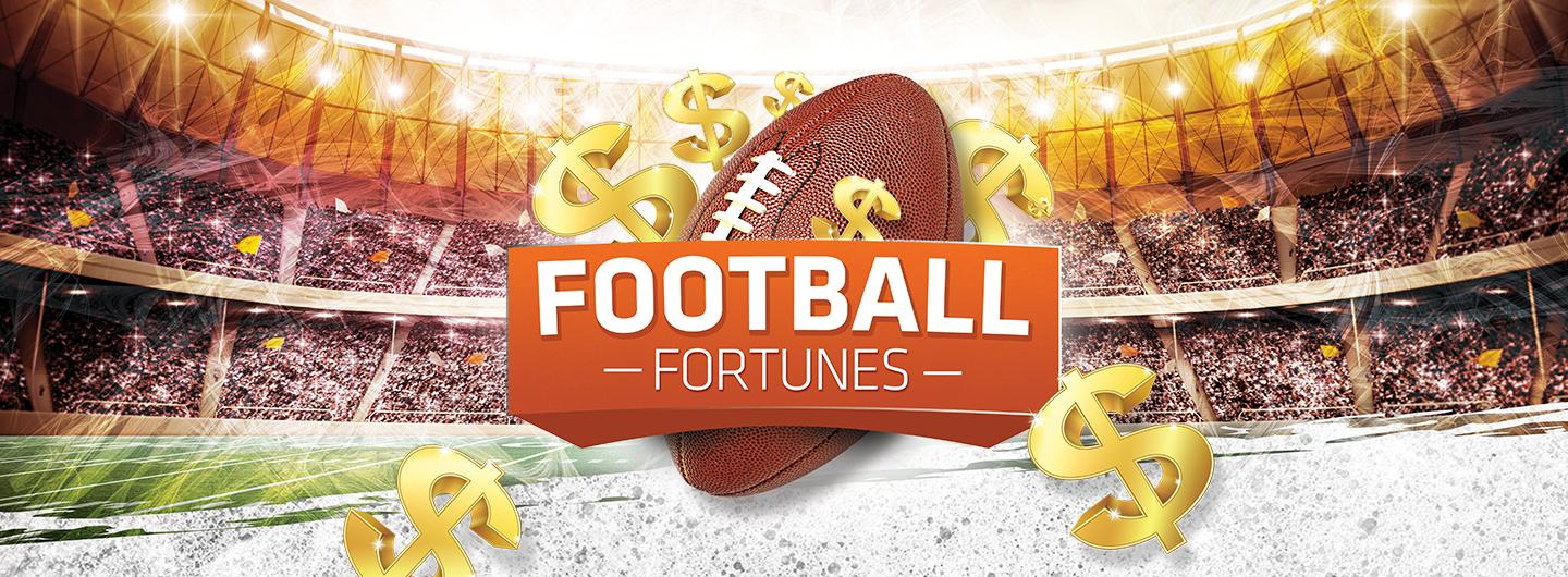 Advertisement for Football Fortunes at Eldorado Scioto Downs