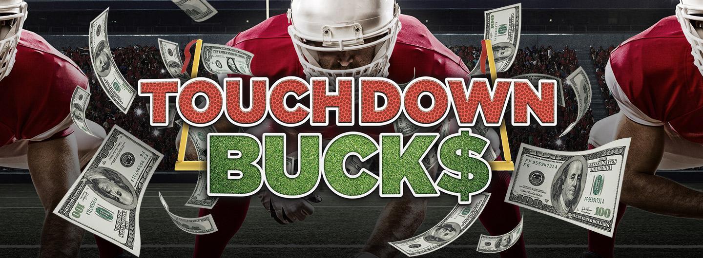 Advertisement for Touchdown Buck$ at Eldorado Scioto Downs