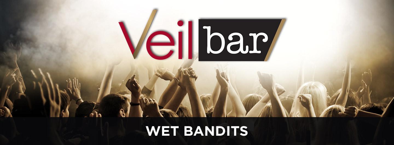 Advertisement for the Wet Bandits Band at the Veil Bar at Eldorado Scioto Downs
