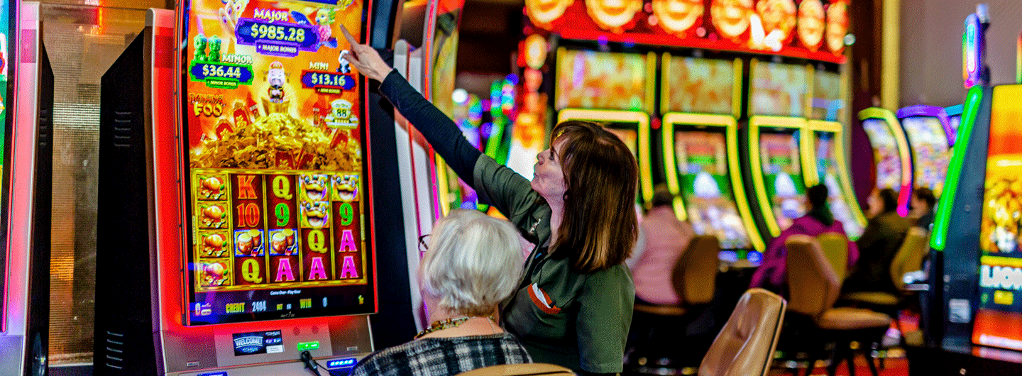 Person Playing a Game at Eldorado Scioto Downs in Columbus, Ohio
