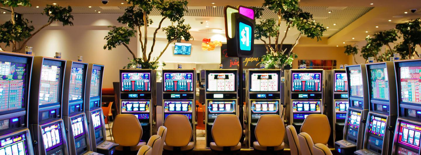 Casino floor at Scioto Downs with VLTs