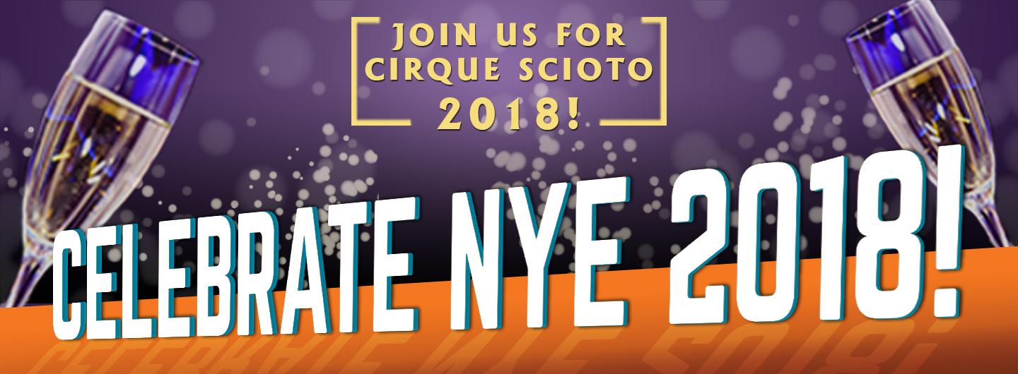 Advertisement for Cirque Scioto New Year's Eve at Eldorado Scioto Downs