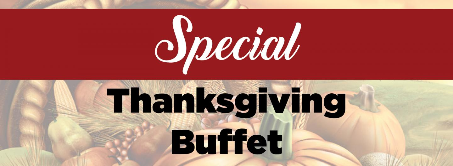 Advertisement for Thanksgiving dinner at The Grove Buffet