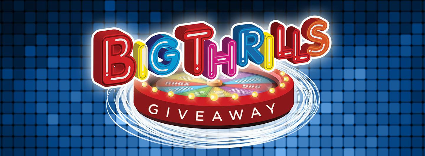 Advertisement for Big Thrills Giveaway at Eldorado Scioto Downs