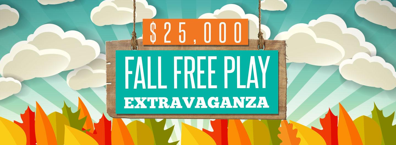 Advertisement for the $25,000 Fall Free Play Extravaganza at Eldorado Scioto Downs