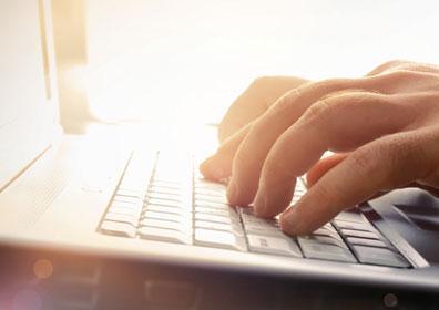 keyboard of someone typing