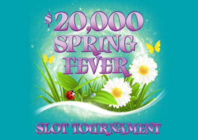 sizzling' hot slot tournament logo on blue background