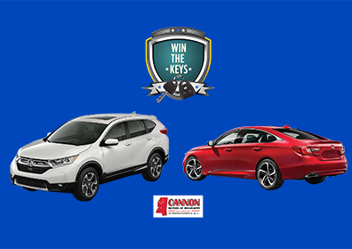 win the keys logo with cars and honda logo