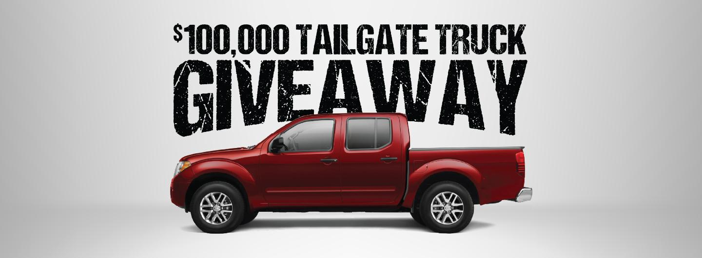 August $100,000 Tailgate Truck Giveaway