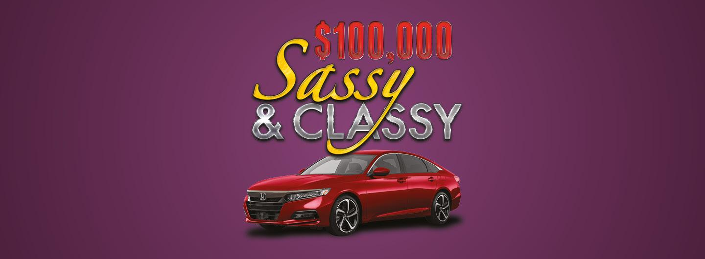 $100,000 Sassy and Classy Giveaway