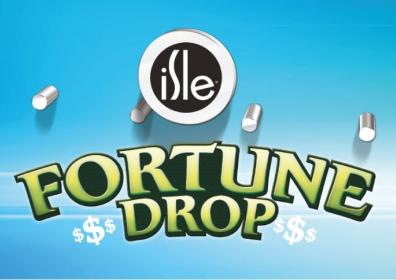 fortune drop text with puck going down game board