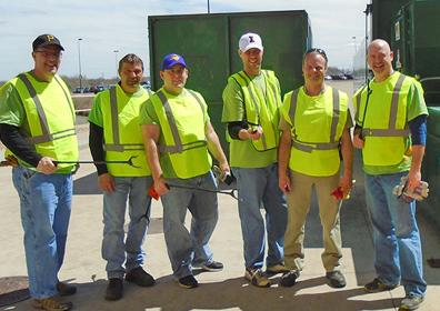 A group of volunteers that help clean the highways for community aces